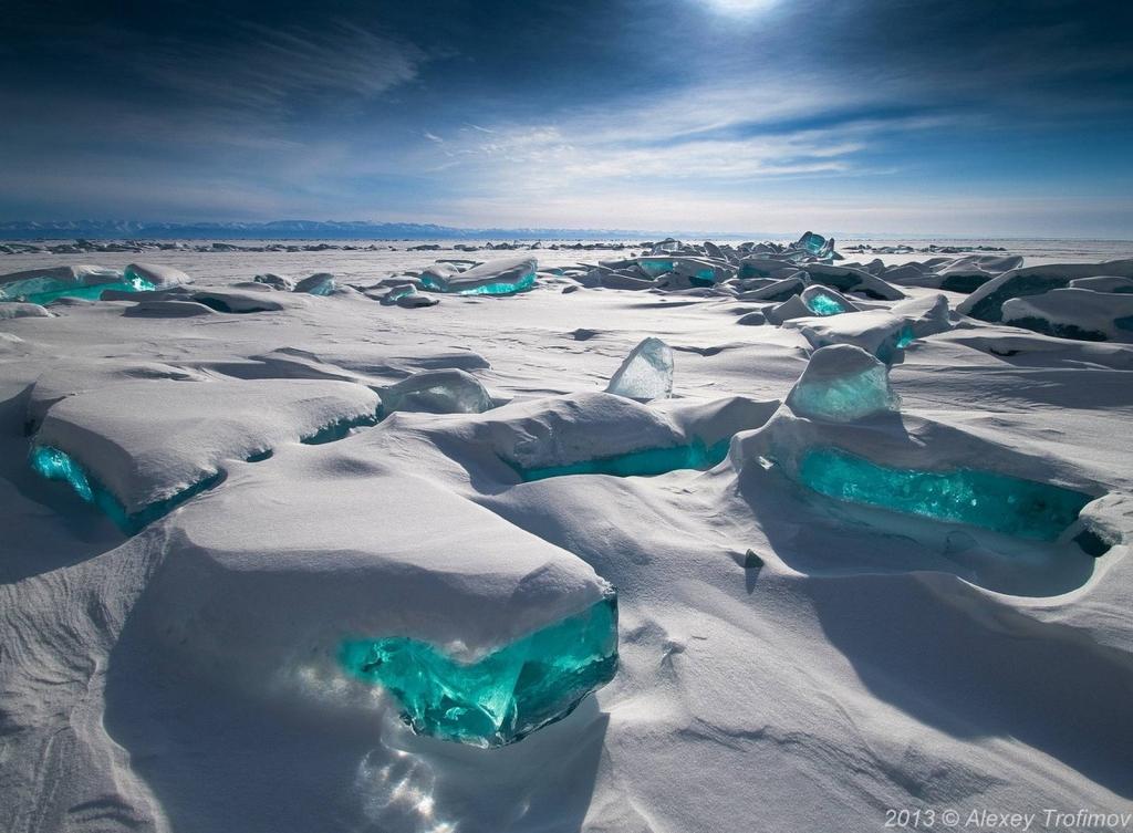 Turquoise Ice: Northern Lake Baikal, Russia - Beautiful ...